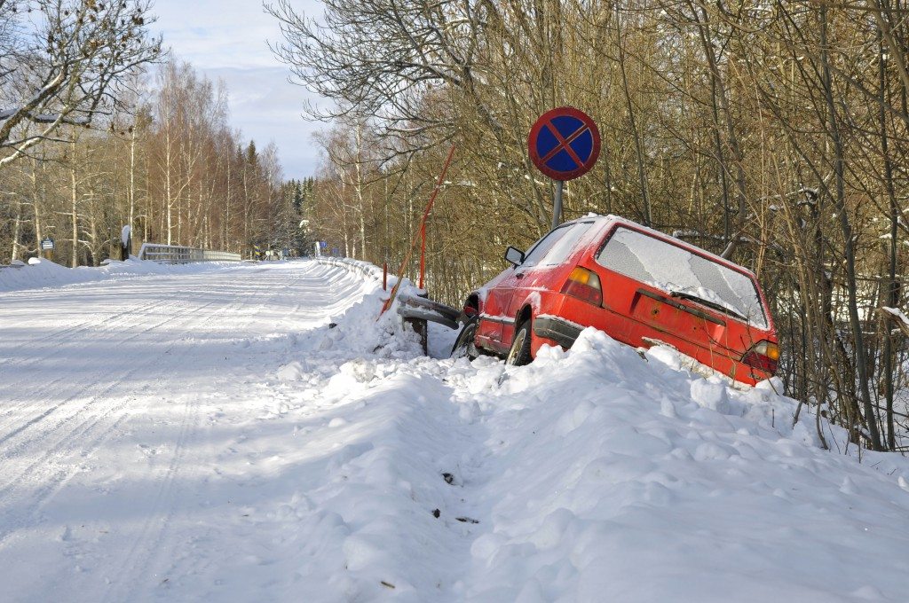 car crashes in winter